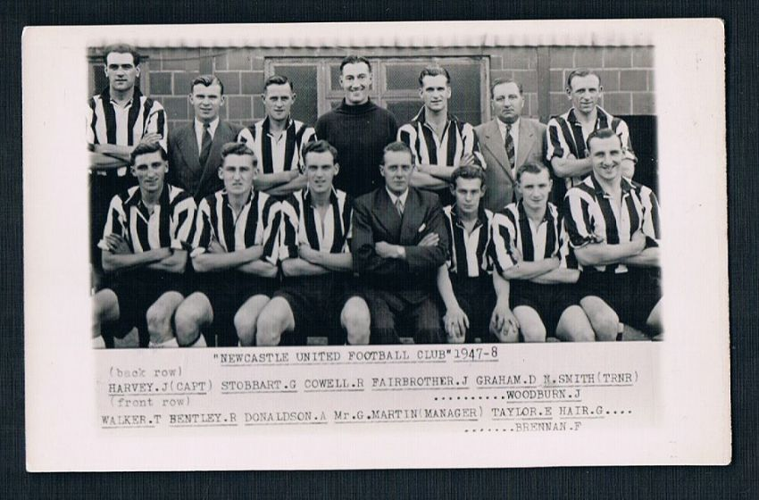 1947 Wilkes photo card NUFC 1947-48 Newcastle